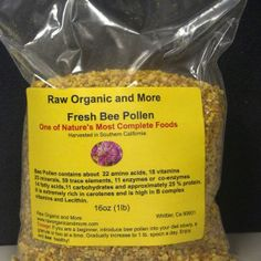 Bee Pollen Food Suppliers, Bee Pollen, Bee Keeping, Amino Acids, Snack Recipes, Chips, Organic, Fresh, Snack Mix Recipes