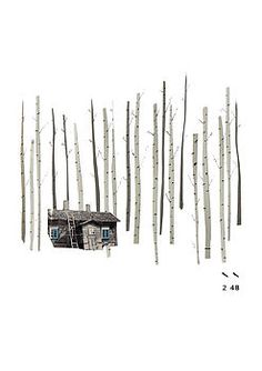 cabin in the forest print by lucy driscoll | notonthehighstreet.com £15+£1.75pp