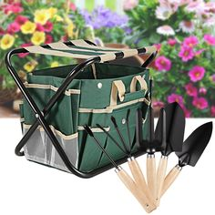 #Recomeneded 7 Pcs Garden Folding Tool Set with Tool Bag and Stainless Steel Gardening Tools LEO     Product Feature: Dual function, it is a foldable stool but also a tool storage https://trickmyyard.com/recomeneded-7-pcs-garden-folding-tool-set-with-tool-bag-and-stainless-steel-gardening-tools-leo/
