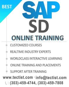 SAP SD Online Training by real time IT professionals. http://www.tectist.com/sap-sd-online-training.html #SAPSDonlinetraining #SAPSD #SAPSDCourseTraining