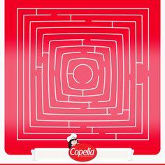 ¡Busca con un amigo la salida de este laberinto y #DiviérteteConCopelia! www.alimentoscopelia.com