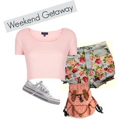 A fashion look from July 2013 featuring cropped t shirt, denim shorts and white sneakers. Browse and shop related looks. Weekend Getaways, Shoe Bag, Polyvore, Blog, Stuff To Buy, Shopping, Collection, Design, Women