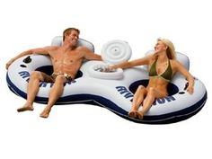 2-person water tube float with cooler!