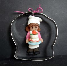 Baker Sous Chef Hat Birthday Cake Christmas Ornament Cookie Cutter Polymer Clay Milestone Cake Topper Apron Delivery Driver Wedding Bakery by alongcameaspider1 on Etsy