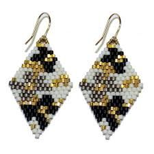 Image result for open circle peyote earrings