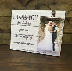 Wedding Officiant Gift, Wedding Gift, Thank You For Helping Give Us The Wedding Of Our Dreams, Thank You Gift by LoveSmallTownUSA on Etsy https://www.etsy.com/listing/287627089/wedding-officiant-gift-wedding-gift