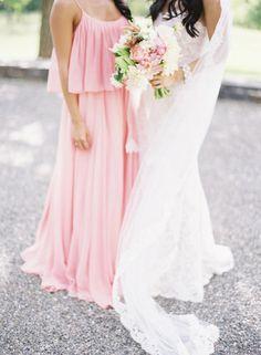 Beautiful bridesmaid maxi dress - Style Me Pretty