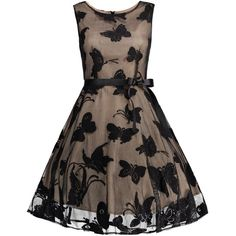 Plus Size Butterfly Jacquard A Line Dress (1,525 INR) ❤ liked on Polyvore featuring dresses, butterfly print dresses, butterfly pattern dress, a line silhouette dress, brown a line dress and womens plus dresses