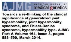 doi: 10.1002/ajmg.a.36437. Keywords: Ehlers-Danlos syndrome, consensus, diagnostic criteria, joint hypermobility, nosology.