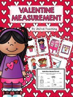 FREEBIE: Valentine Measurement Math Center >> Measuring Valentine objects using a heart ruler (non standard units of measurement)
