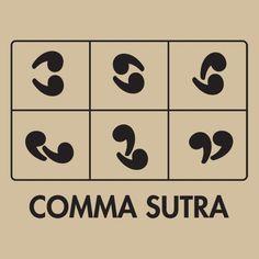 """Este es el auténtico """"comma sutra"""" (repinned by @ricardollera) #humor"""