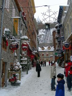 Beautiful Quebec City, A Winter Wonderland