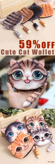 59%OFF&Free shipping. Buy more& Save more. Cute Cat Wallet, Coin Bag, Fashion Mini Bag, Money Purse. Shop now~
