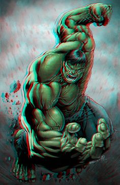 Hulk conversion 2D to 3D Anaglyphs Red Cyan by Fan2Relief3D on DeviantArt