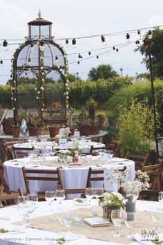 casamiento, boda, wedding, ideas, viñedo, luces kermesse, centros de mesa, Narbona, Carmelo, Uruguay