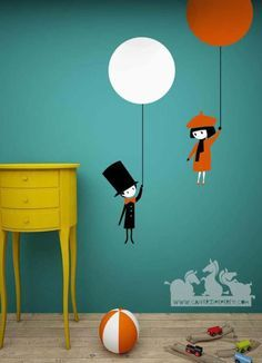 So Cute <3 I'm paiting these wall stickers on my wall right now!