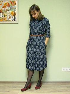 Модели, сшитые по выкройке Платье рубашечного покроя