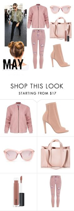 """May"" by cecilia-beatz ❤ liked on Polyvore featuring Helmut Lang, Gianvito Rossi, Karen Walker, Corto Moltedo, MAC Cosmetics and River Island"