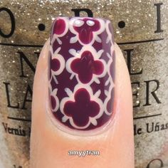 Quatrefoil  Products used: @Opi_products Nude: Pale To The Chief Red: OPI by Popular Vote Plum: Kerry Blossom Dotting tool: @bornprettystore Top coat: Marvel Liquid @superchiclacquer Nail art brush: Size XS @nailbees  Song: Spectre - Alan Walker [NCS Release]