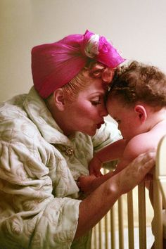 Lucille Ball with her daughter Lucie c. 1952