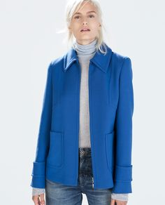 Image 1 of SHORT SEAMED JACKET WITH ZIP from Zara