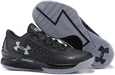 UA Stephen Curry One Low Black Grey Shoes