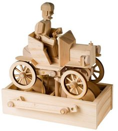 Timberkits Vintage Car Model Kit Mechanical Wooden Self Assembly Moving Automata for sale online Wooden Puzzles, Wooden Toys, Wooden Model Kits, Hobby Kits, Timber Wood, Automata, Craft Kits, Vintage Cars, Natural Wood