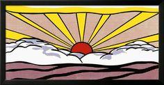 Sunrise, c.1965 Framed Art Print by Roy Lichtenstein at Art.co.uk