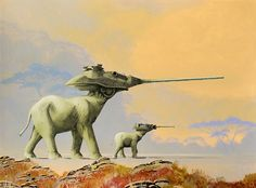 Space was not the final frontier for artist Roger Dean, best known for his album covers for the band Yes – he went far beyond the galaxies for these fantastical images