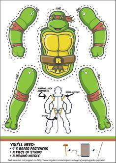 Personagens - Tartarugas Ninjas