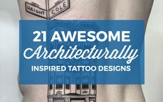 Architecturehas always inspired the masses. Whether it's a 2,000-year-old mind-boggling feat of classical architecture or something a little more recent like the stunning Burj Khalifa in Dubai, residential as well as commercial architecturerepresents man kind's largest visual works of art. Here are some of our favorite tattoos inspired by various works of architecture. This epic view. (Photo: Balazs Bercsenyi) This blackwork apartment building. (Photo: LARZ) Thisovalamphitheater. (Photo…