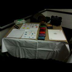 Bird fingerprint sign-in table