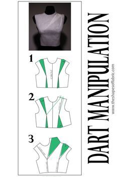 How to rotate bodice darts. Learn dart manipulation tricks at the link. How to rotate bodice darts. Learn dart manipulation tricks at the link. Corset Sewing Pattern, Vogue Sewing Patterns, Clothing Patterns, Dart Manipulation, Dress Making Patterns, Pattern Making Books, Skirt Patterns, Coat Patterns, Pattern Draping