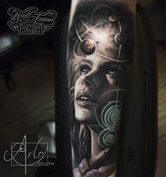 Atomic Solar System | Best Tattoo Ideas & Designs