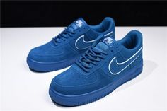 separation shoes 69d31 f6f6a 2018 Nike Air Force 1 Low 07 LV8 Suede Blue White AA1117-400 For