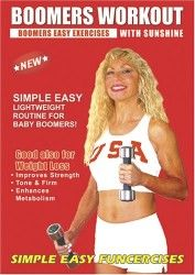 Boomers Exercise DVD, Easy Light Weights Workout. Boomers Exercise DVD good also for over 50, Boomers Fitness, Active Seniors Light Weights / Dumbbells Exercise DVD for Strength, Balance, and Weight Loss.