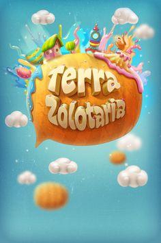 Game screens by Tatiana Koidanov, via Behance Games Design, Design Art, Graphic Design, Game Font, Video Game Logos, Splash Images, 2d Game Art, Game Gui, Game Interface