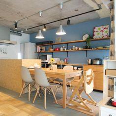 saku39sakuさんの、キッチン,無印良品,照明,IKEA,北欧,フェイクグリーン,リノベーション,のお部屋写真