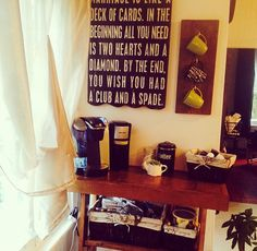 Coffee & Tea Bar Homemade, Tea, Coffee, Kaffee, Home Made, Diy Crafts, Do It Yourself, Teas, Tees