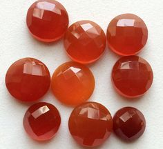 WHOLESALE 20 Pcs Carnelian Orange Chalcedony Rose by gemsforjewels