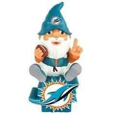 "Miami Dolphins 11"" Resin Statue Sitting On Logo Gnome"
