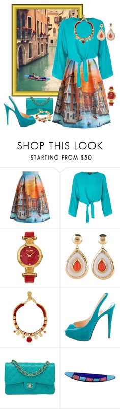 """""""The Italian Dream."""" by lexuslady on Polyvore featuring Cinque, Chicwish, Topshop, Versus, Dolce&Gabbana, Christian Louboutin, Chanel and Marco Bicego"""