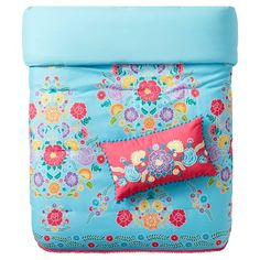 A riot of color will pop on your sofa with the Fiesta Throw Pillow Pink from Pillowfort. This lumbar accent pillow has an embroidered floral pattern and pom pom fringe. Accent Pillows, Throw Pillows, Girls Bedroom, Bedroom Ideas, Comforter Sets, Comforters, Little Girls, Floral Design, Queen