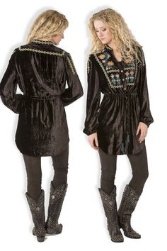 Double D Ranch Fall/Winter 2015 Francis Velvet Tunic! #DoubleDRanch #Tunic