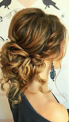 Balayage curly bun #gorgeoushair