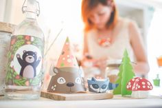 Woodland Party printable decor kit fox baby deer by KudzuMonster