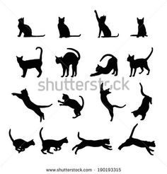 Cat Face Silhouette | cat silhouette - stock vector