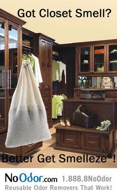 Smelleze® Reusable Closet Smell Remover Gets Rid Of Closet Odor Without  Chemicals. Smelleze™