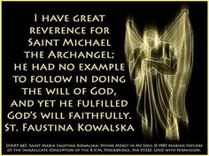 St Michael the Archangel- love this strong and humble image