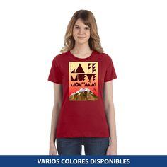 Blusa Estándar - La fe mueve montañas T Shirt, Tops, Women, Fashion, Christian T Shirts, Christians, Faith, Blouses, Colors